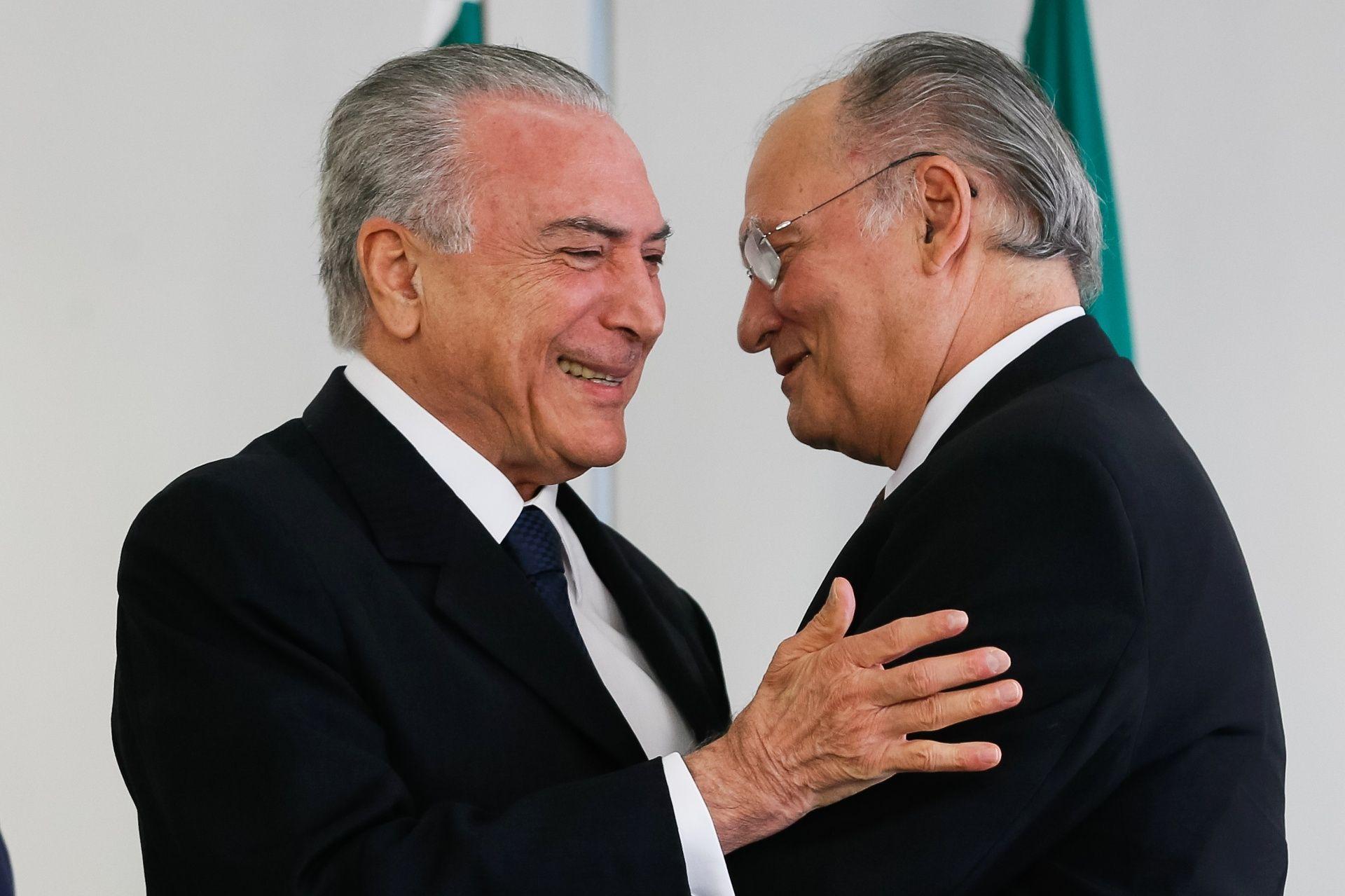 Michel Temer y Roberto Freire