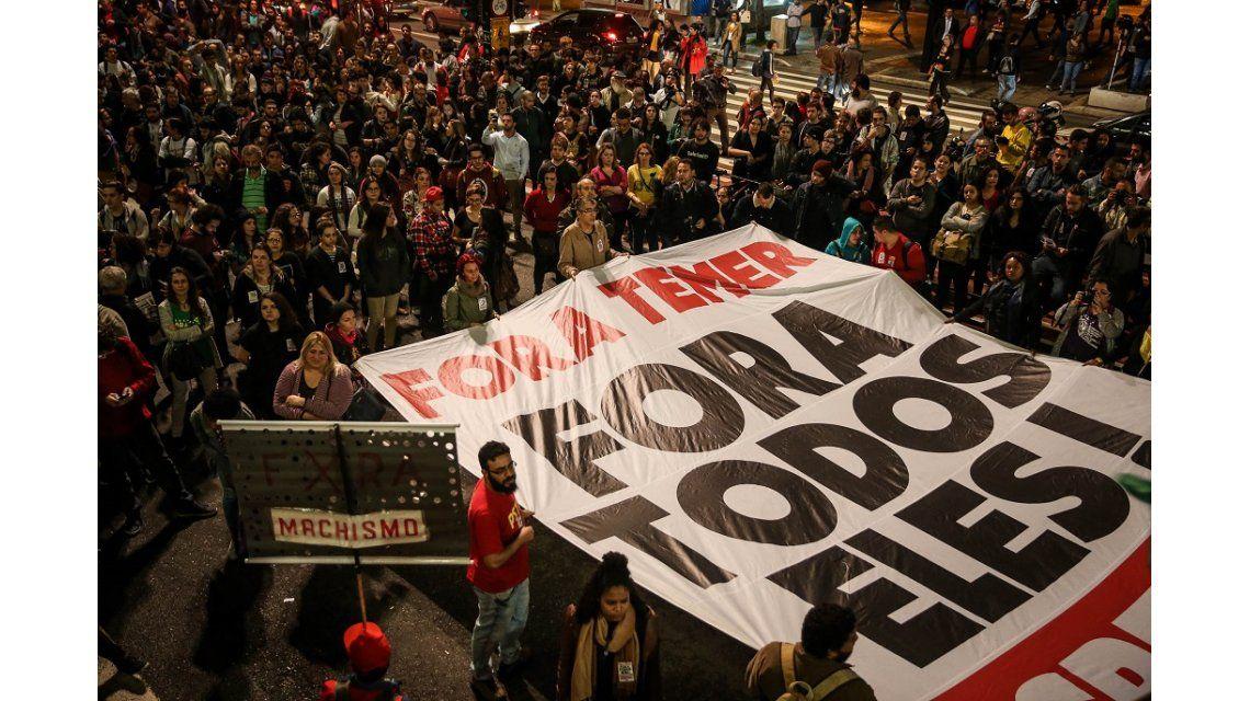 Marchas en Brasil contra Temer
