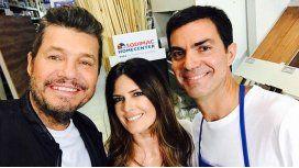 Marcelo Tinelli junto a Isabel Macedo y Juan Manuel Urtubey
