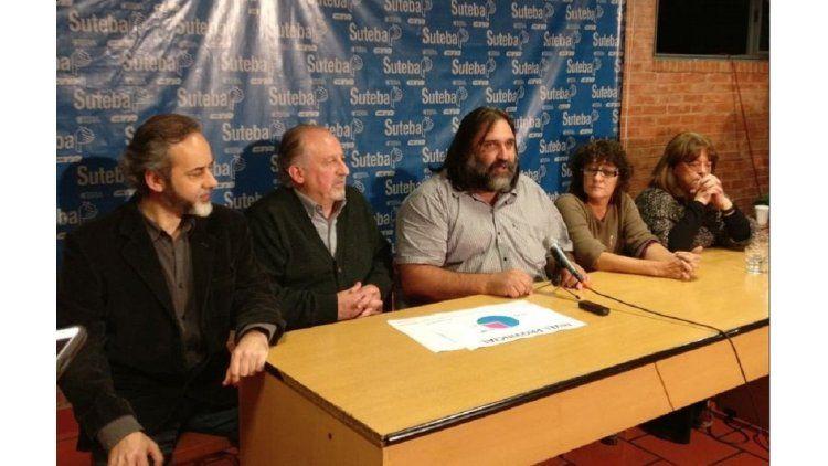 Baradel dio una conferencia tras ser reelecto en Suteba