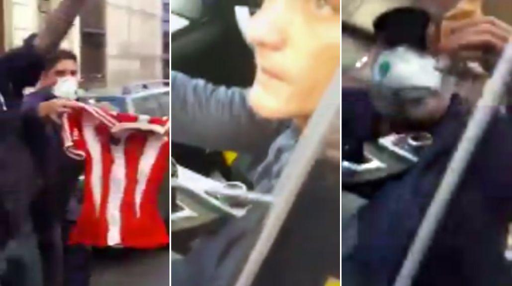 VIDEO: hinchas de River cargaron a Guillermo Barros Schelotto en la calle