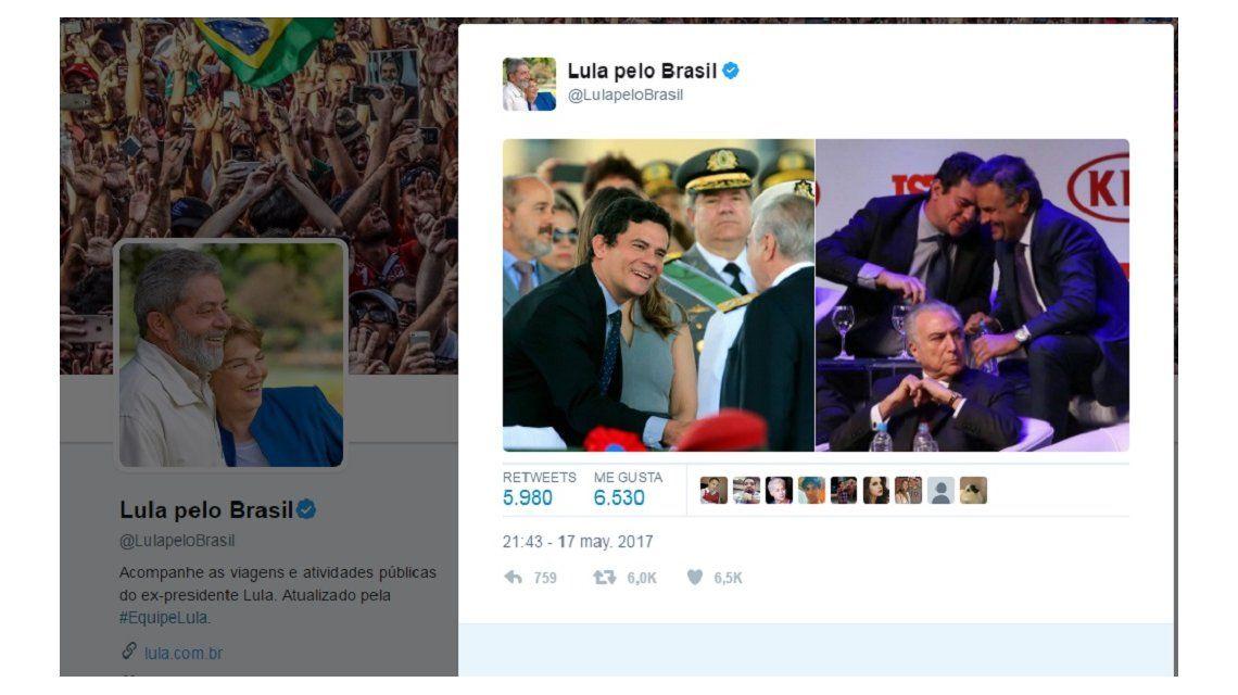 El tuit de Lula contra Temer