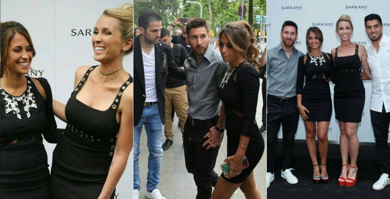 La mujer de Messi inauguró un local de Sarkany en Barcelona