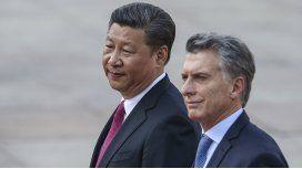 Mauricio Macri y Xi Jinping