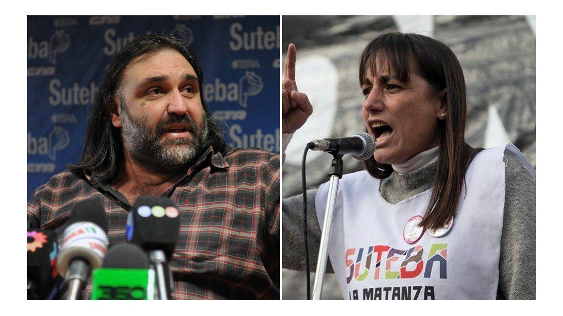 Roberto Baradel y Romina Del Plá