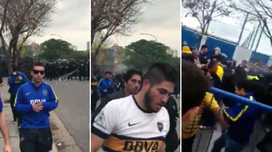 Superclásico: los videos que muestran que hubo gas pimienta en La Boca