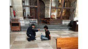 El agresor fue detenido por la policía