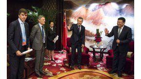 Macri con Liu Quitao de China Communications Construction Company