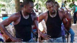 Usain Bolt cavó la tumba de Germain Mason