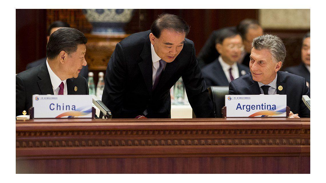 Macri en el foro de líderes mundiales en China