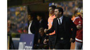 El DT de River, Marcelo Gallardo, eufórico tras la victoria en el Superclásico