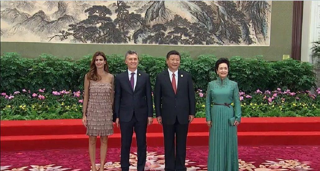 Macri fue recibido por Xi Jimping