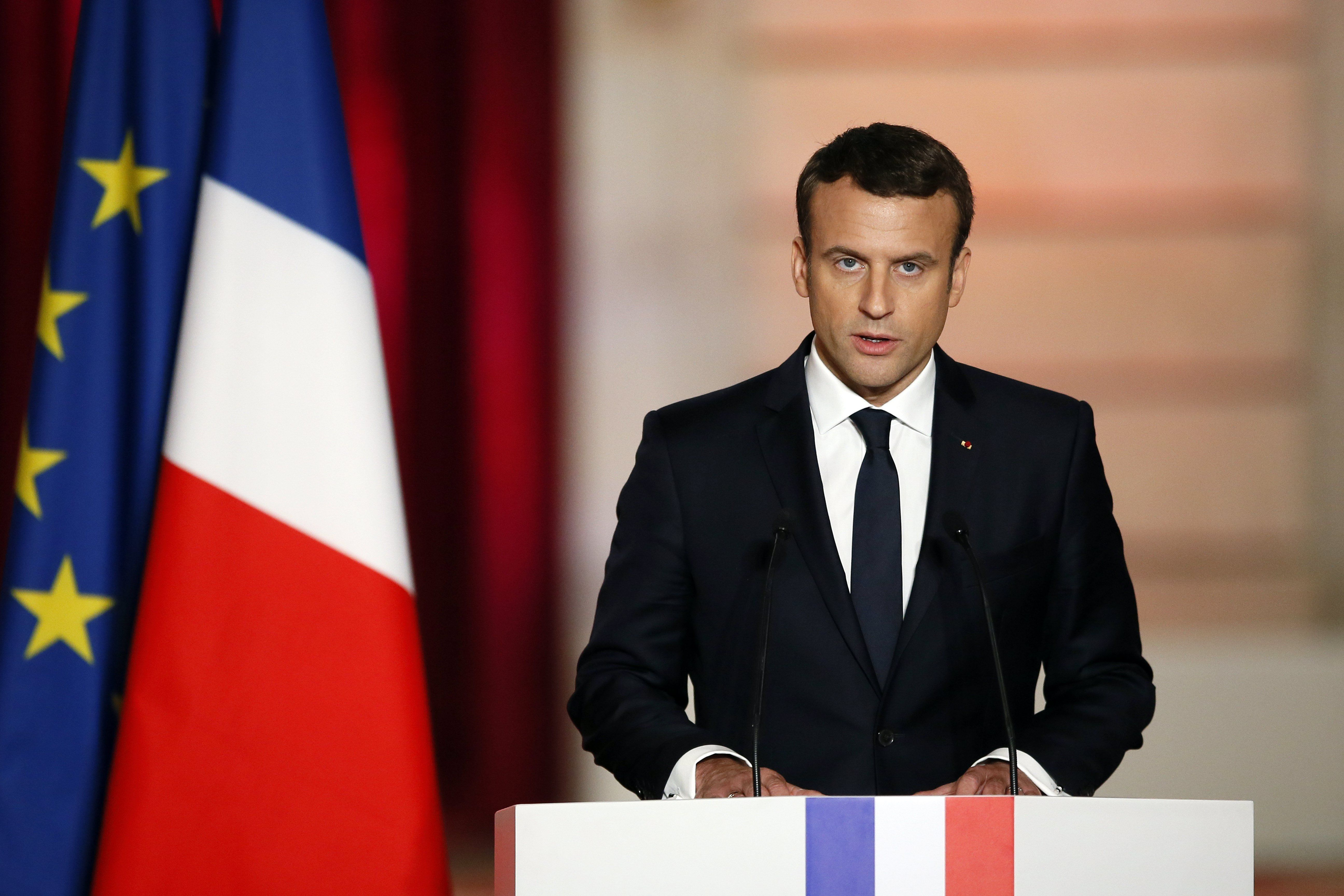 Emmanuel Macron asumió la presidencia de Francia<br>