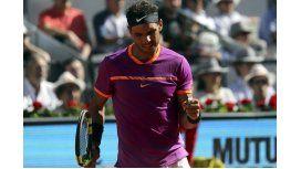 El puño apretado de Nadal, que jugará la final del Masters 1000 de Madrid
