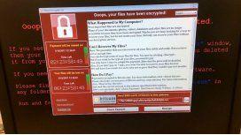 Este es el cartel que aparece cuando te hackea el virus