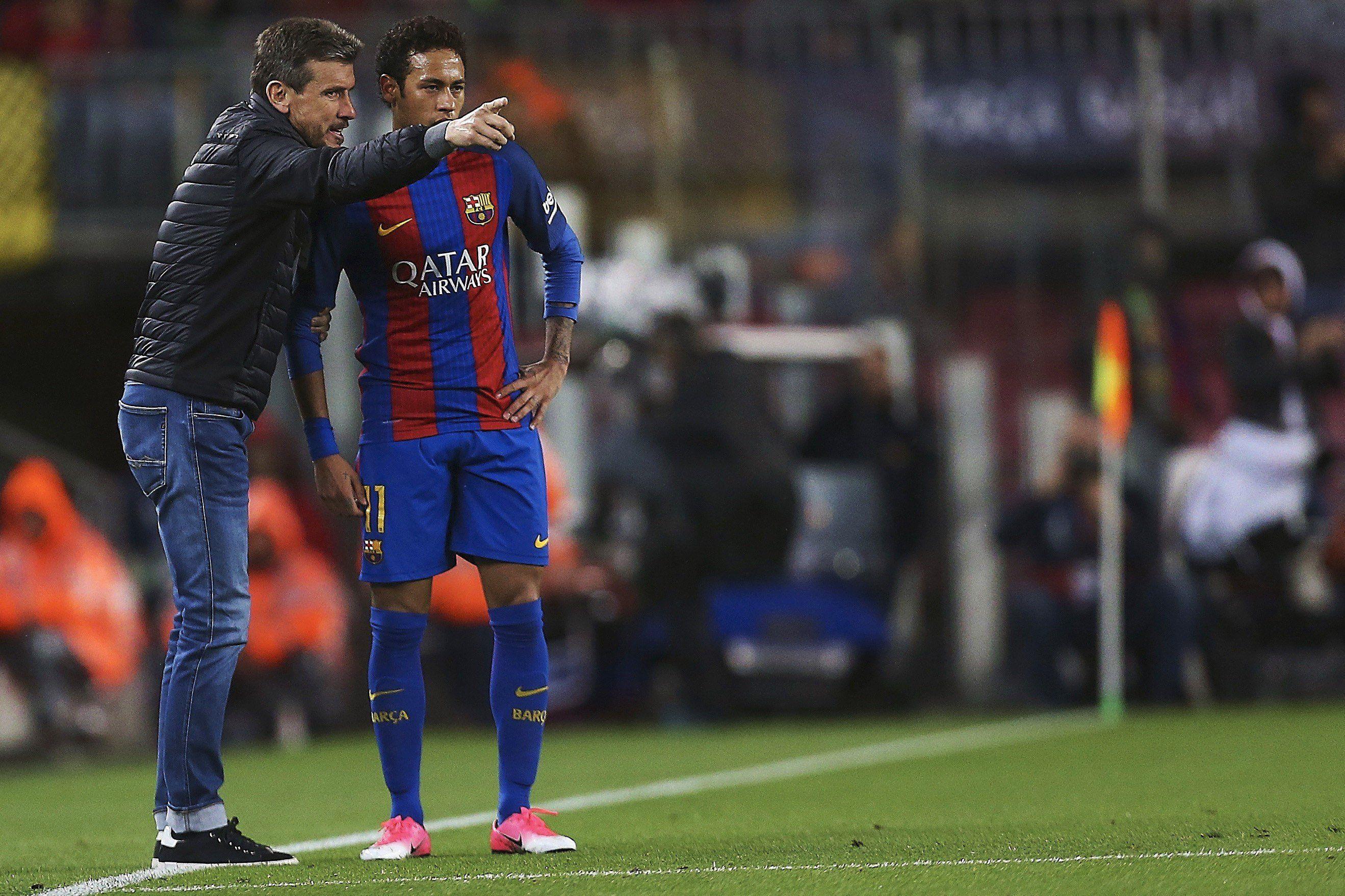 Unzué y Neymar