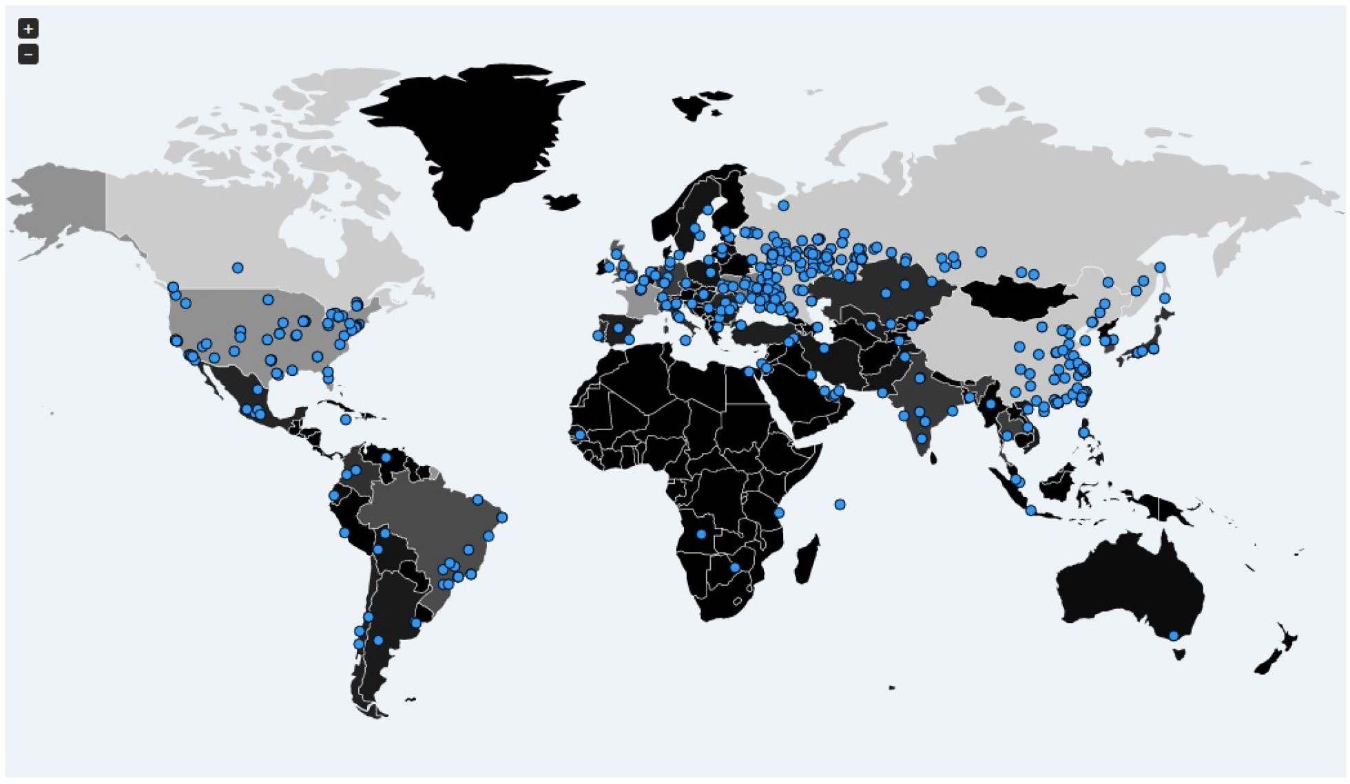 Los distintos puntos del planeta afectados por el ciberataque mundial (Malware Tech)