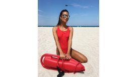 Agustina Casanova, al mejor estilo Baywatch en Miami