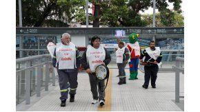 Con una batucada, metrodelegados protestaron por las paritarias