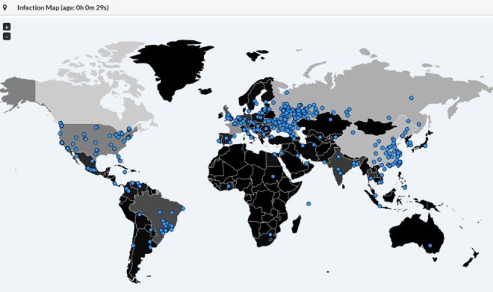 El ciberataque masivo afectó a instituciones estatales y privadas de todo el mundo