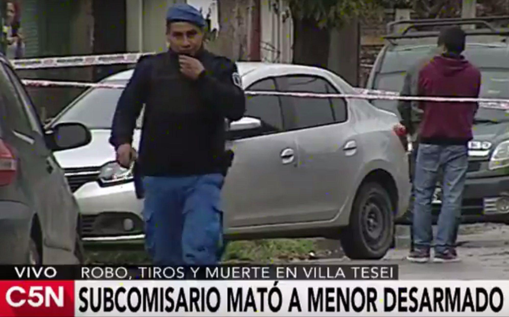 Un policía mató a un menor de edad que le robó las tazas de las ruedas su auto