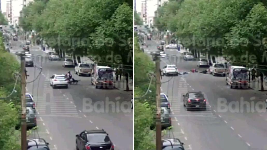 El accidente quedó registrado por una cámara de seguridad