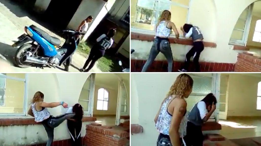 Así fue la pelea entre las dos chicas en Vera