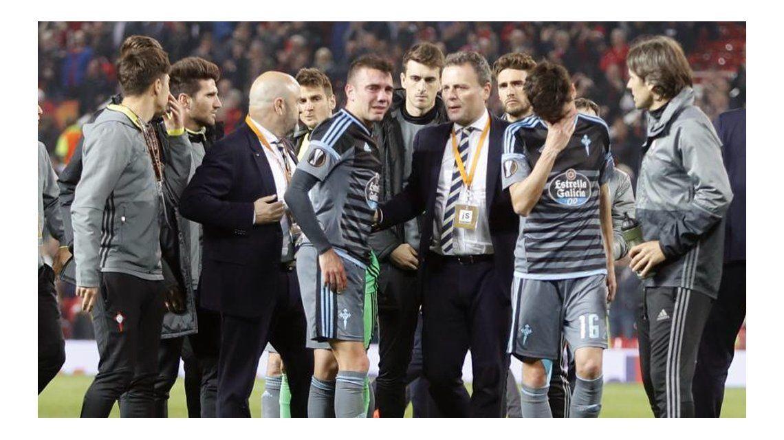 VIDEO: Las palabras de Iago Aspas tras la eliminación ante el Manchester United