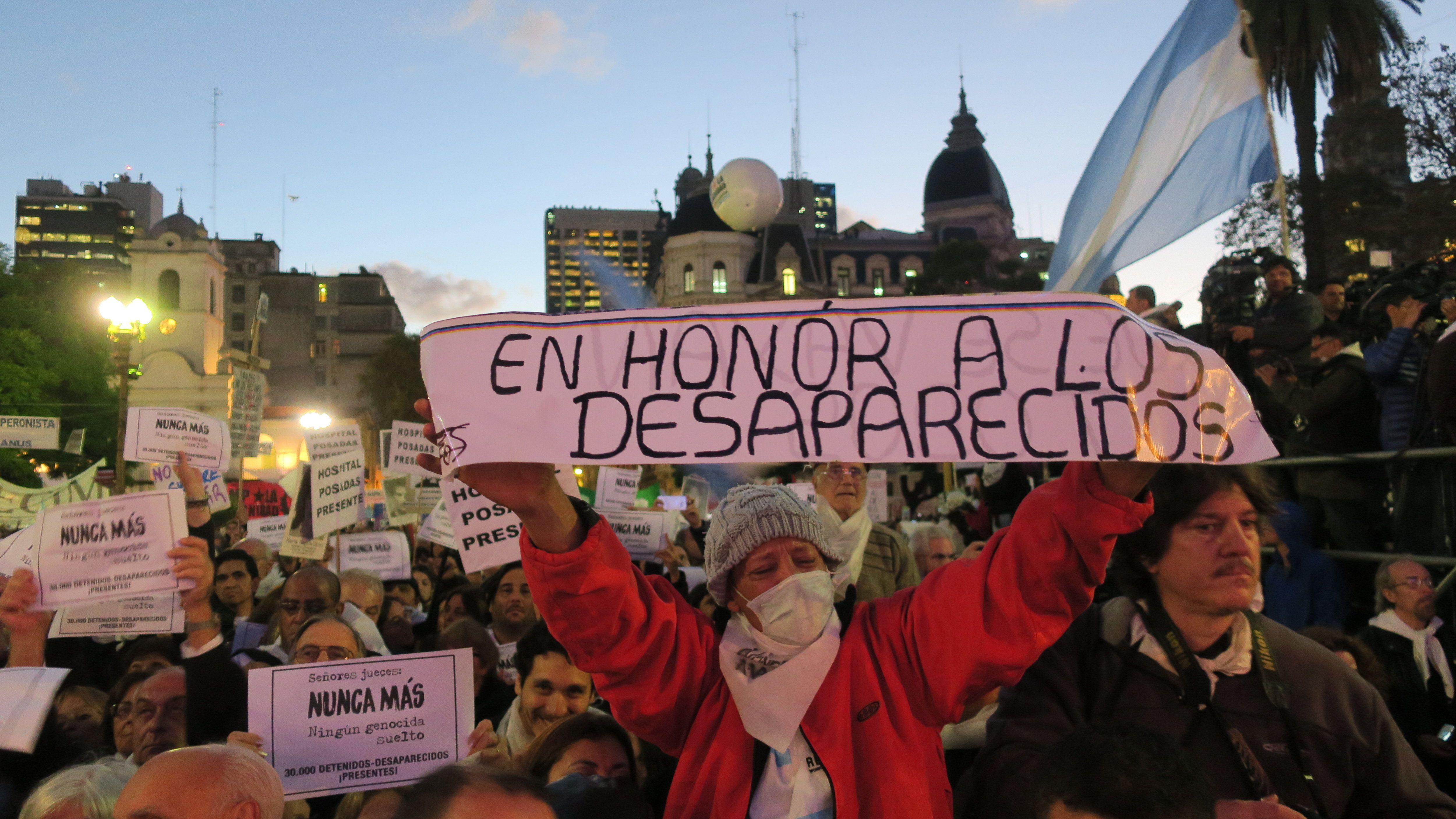 Marcha contra el 2x1 en Plaza de Mayo