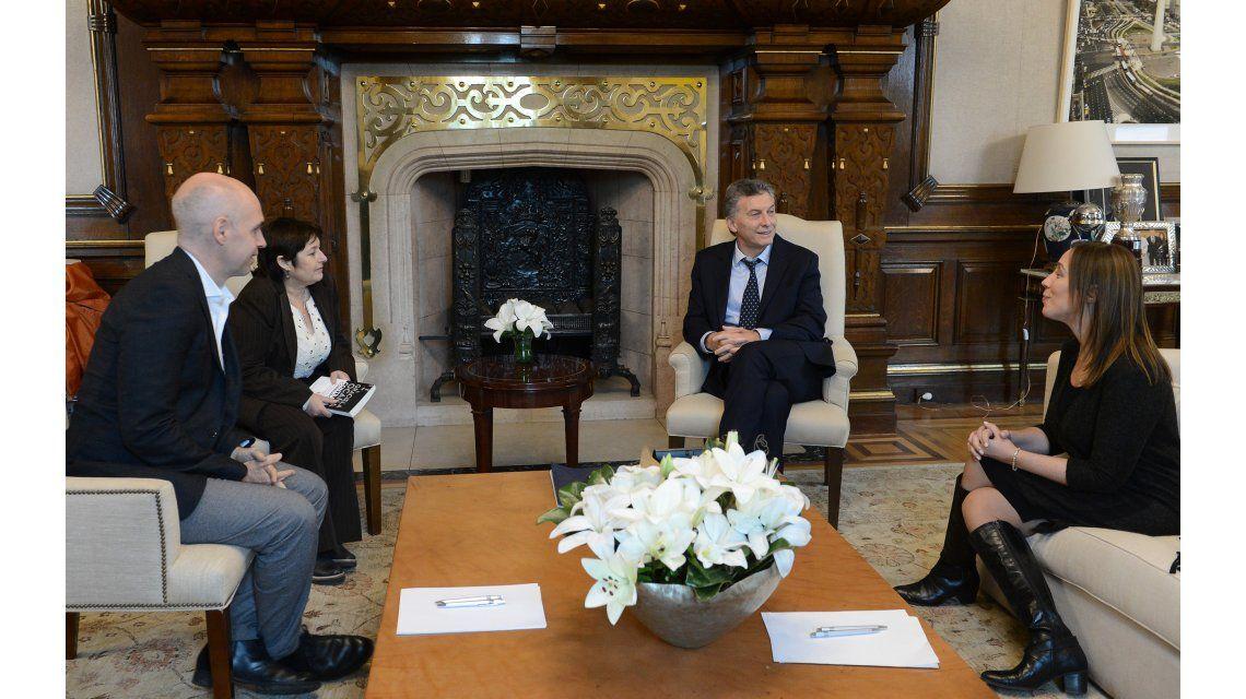 Mauricio Macri recibió a Graciela Ocaña en Casa Rosada