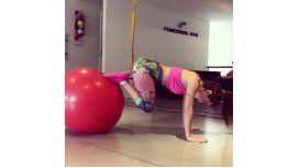 Un fuego los ejercicios de Lali en Instagram