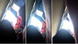 Un hombre se masturbó frente a una pasajera