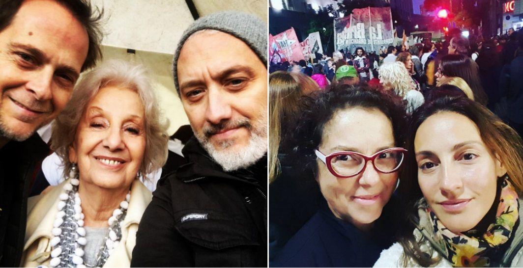 Los famosos se manifestaron en contra del 2x1 para los genocidas