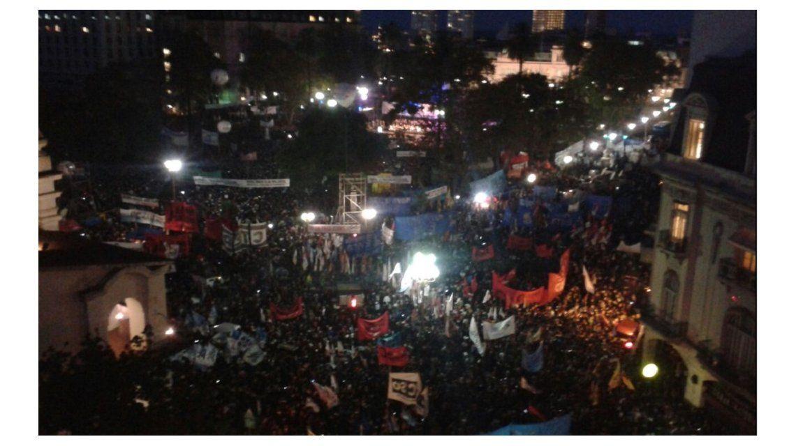 La marcha en Plaza de Mayo