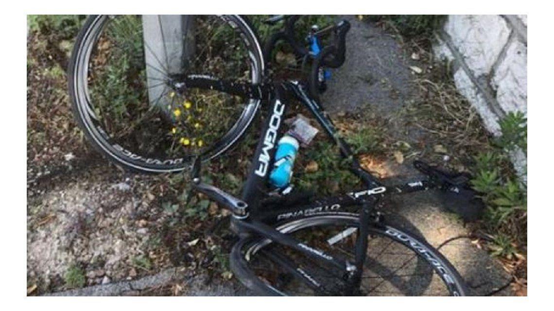 Así quedó la bicicleta de Chris Froome