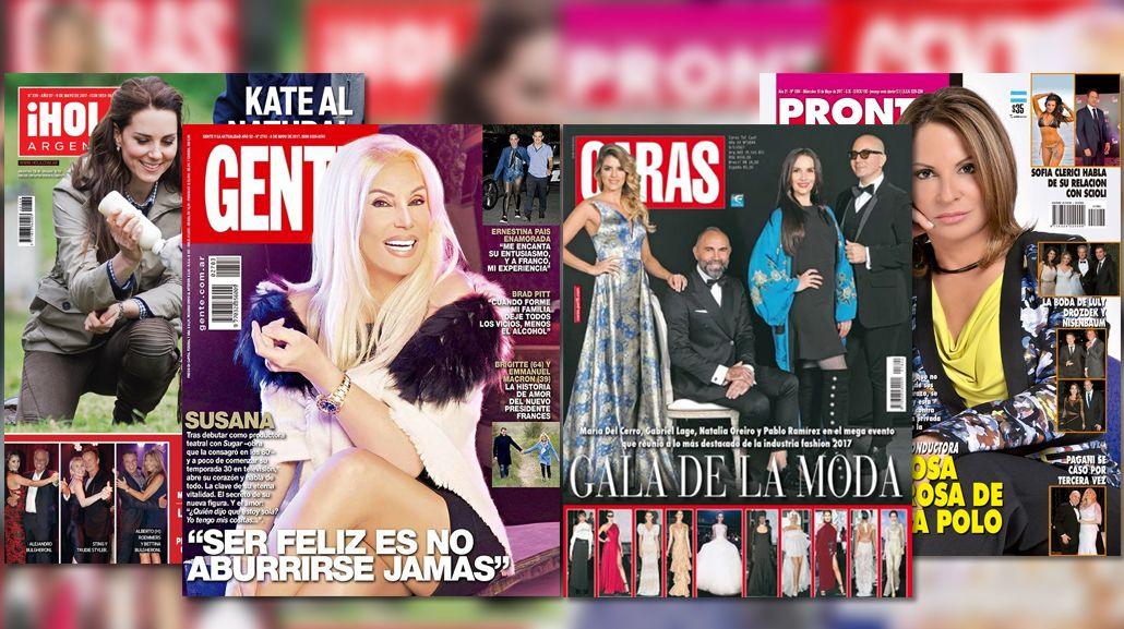 Susana Giménez y la Doctora Polo en las tapas de revistas
