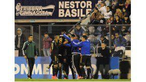 El festejo de Ponte Preta tras el gol que le valió la clasificación por ser de visitante