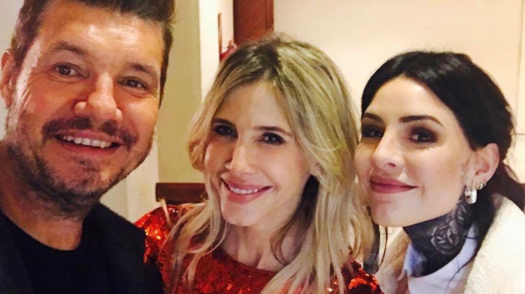 Marcelo Tinelli y Cande fueron a ver a Guillermina Valdes al teatro