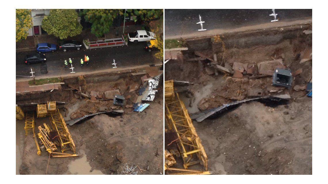 Una obra en construcción se derrumbó en Núñez