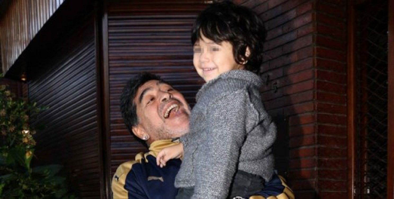 Diego Maradona habló de la salud de su hijo.