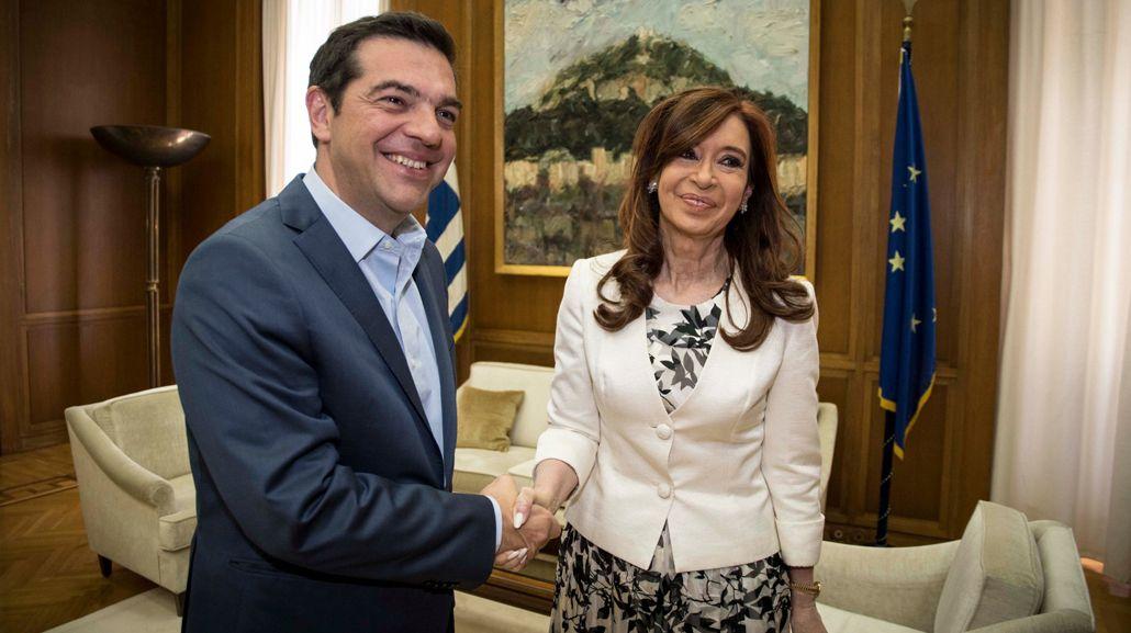 Encuentro entre Cristina Kirchner y Alexis Tsipras