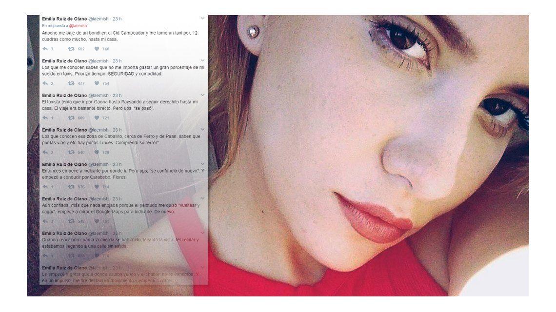Una joven denunció que un taxista la quiso secuestrar en Caballito