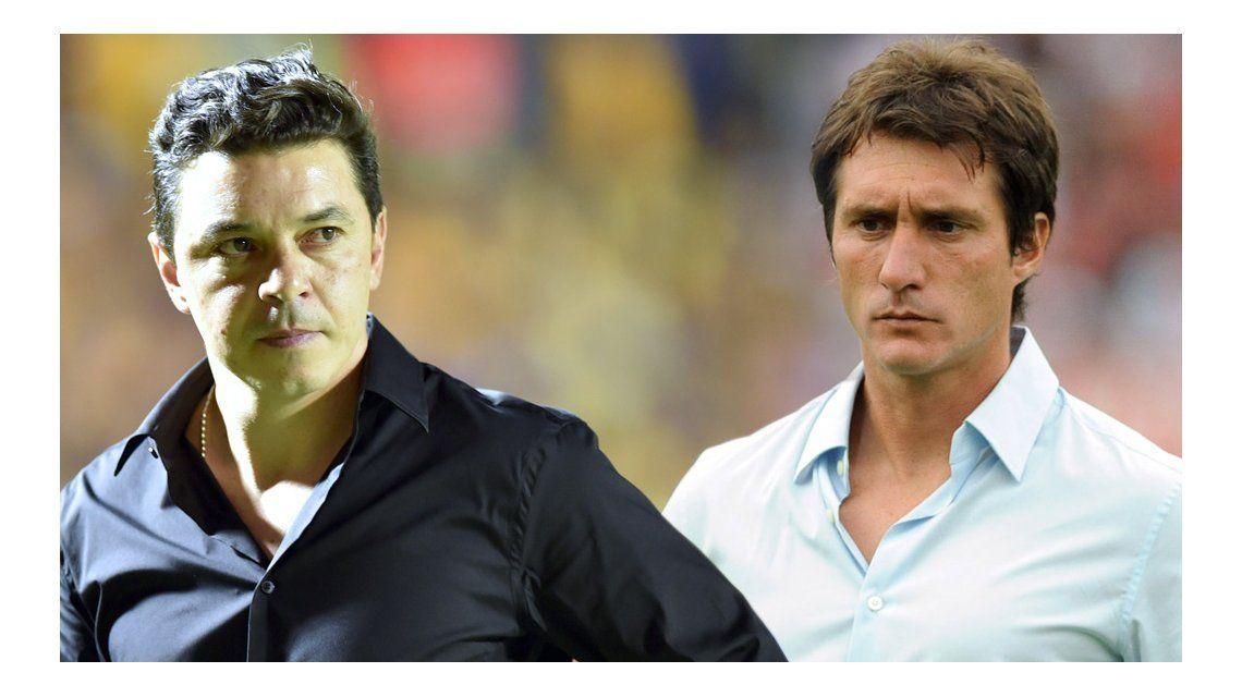Gallardo y Barros Schelotto hablaron del Superclásico