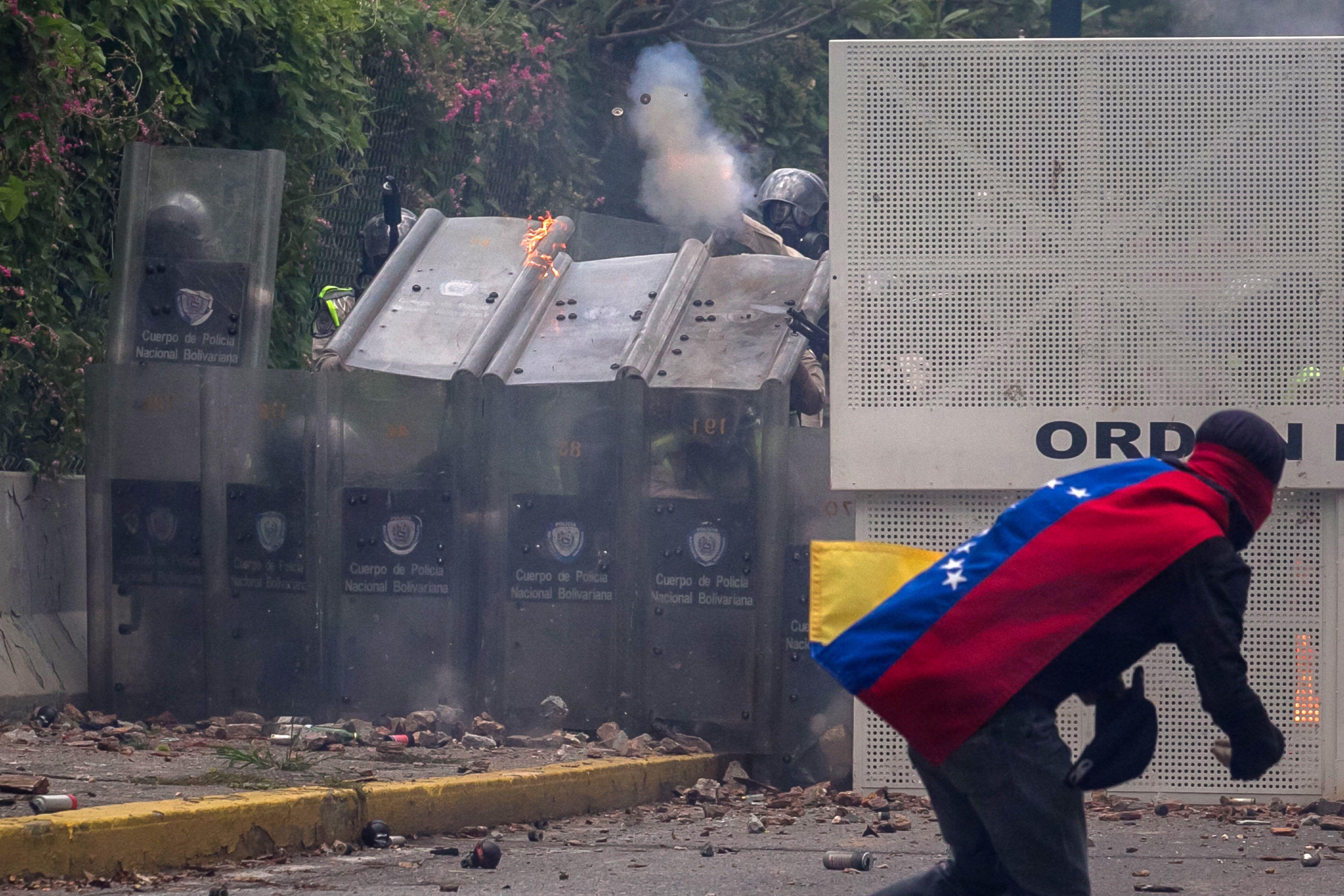 Violencia en las calles de Venezuela