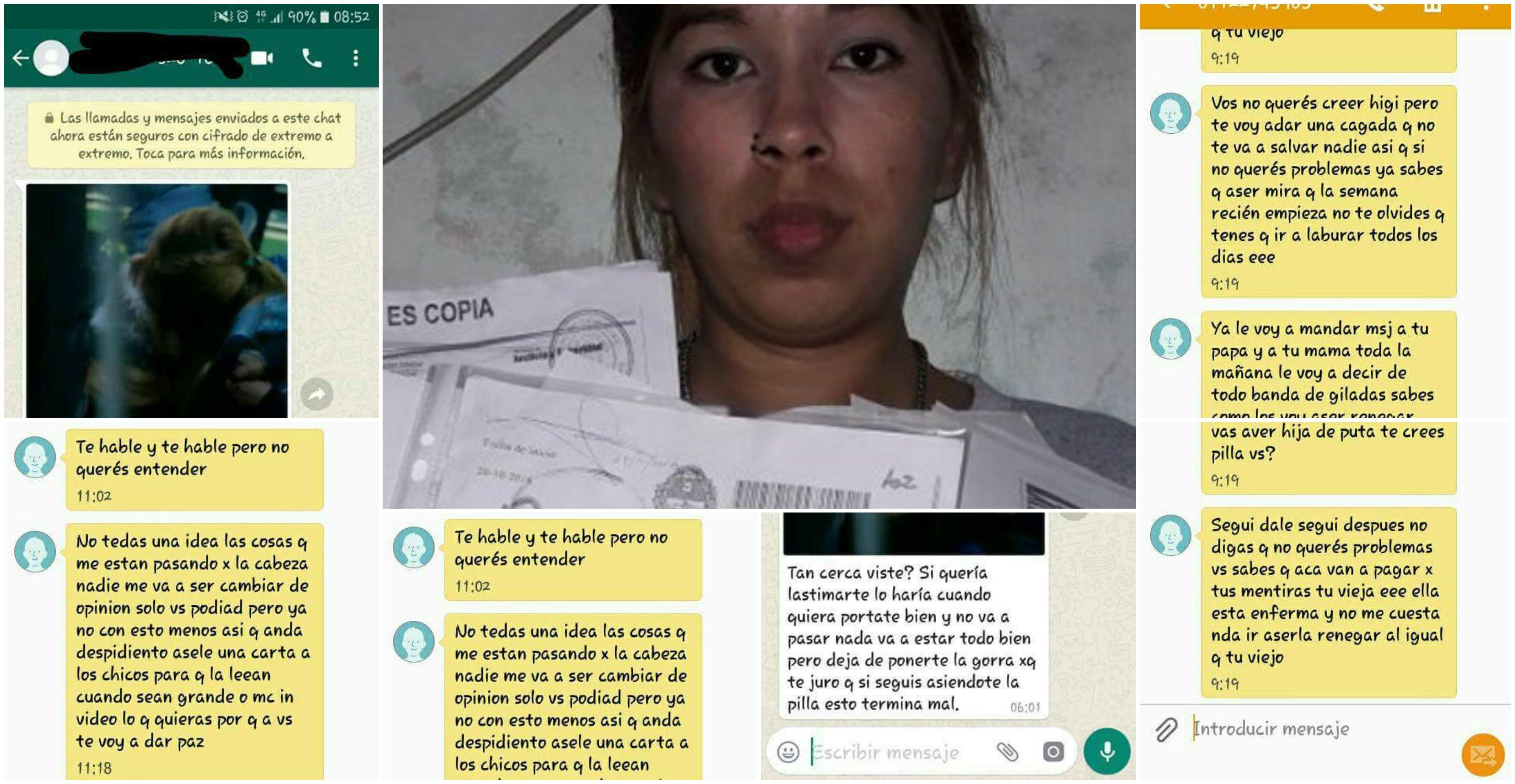 Higinia Aguirre y algunas de las amenazas que recibió