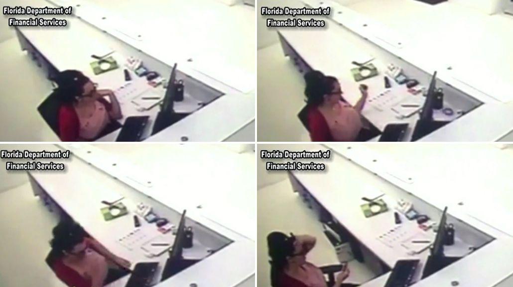 Una empleada fue filmada mientra simulaba un accidente en su trabajo