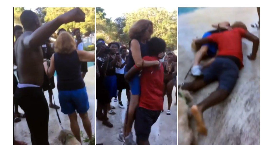La violenta reacción de unos jóvenes contra una mujer
