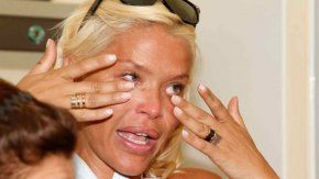 Nazarena Vélez llorando