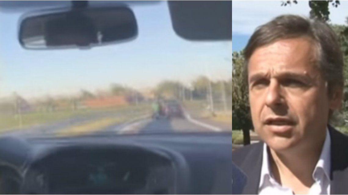 Giuliano grabó un robo en la autopista Rosario - Buenos Aires