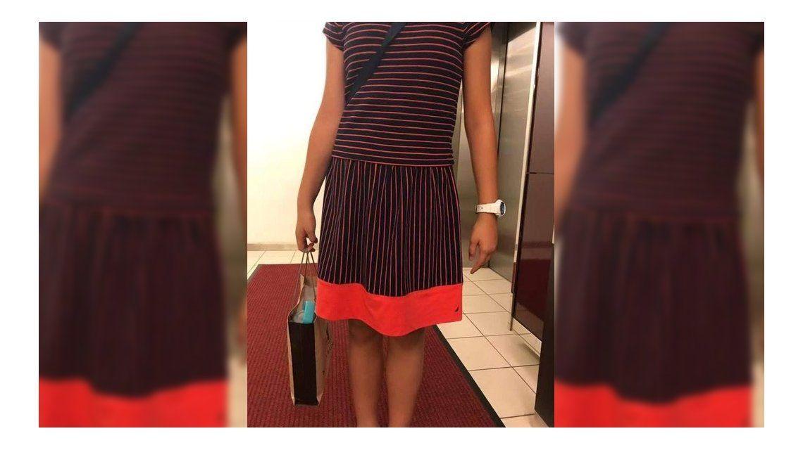 El vestido que usó la nena que fue echada del torneo. Foto: portal La Sexta.